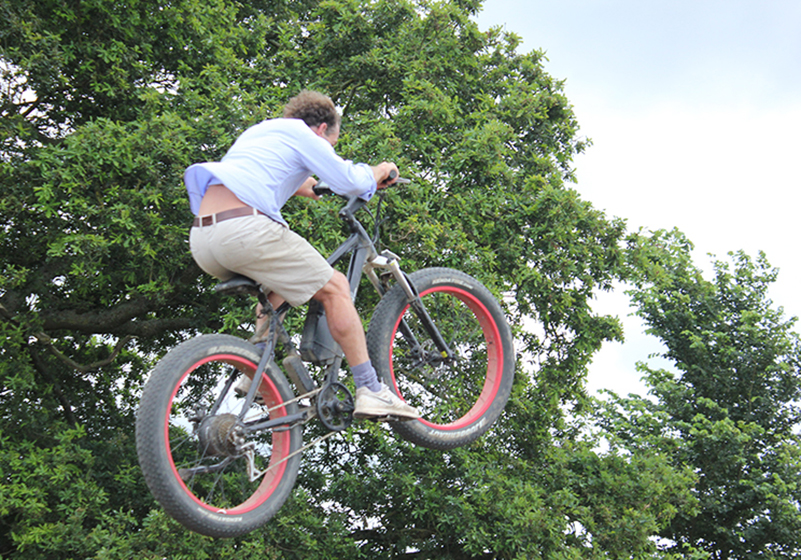 bicycle jumping